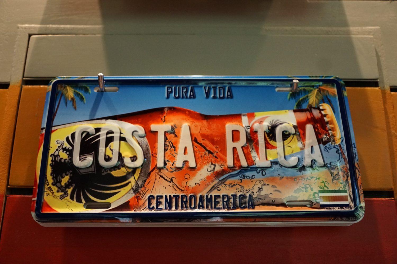 Placa Costa Rica. www.milviajes.com